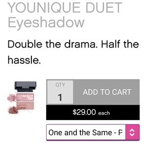 Younique Makeup - BOGO 1/2 off! Younique Duet Shadow